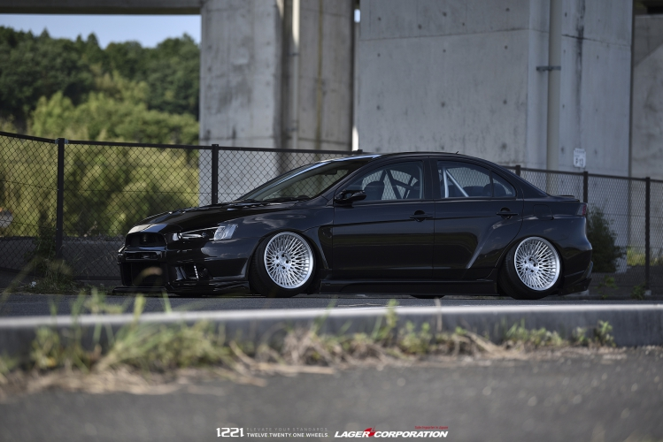 Mitsubishi EVO X Widebody Concave Wheels