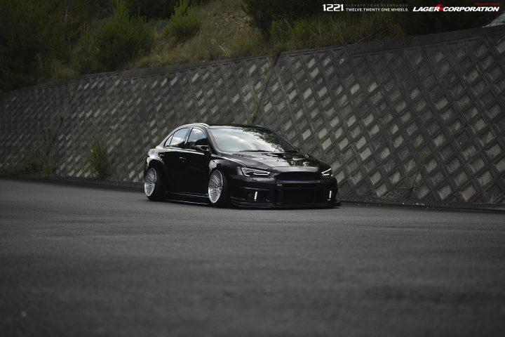 Mitsubishi EVO X Widebody Concave Wheels