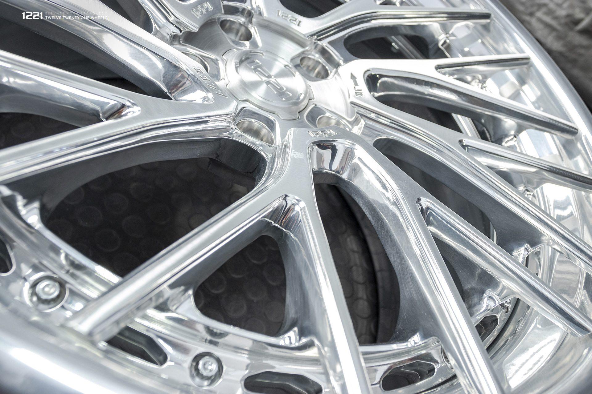 1221 brushed polished finish wheel