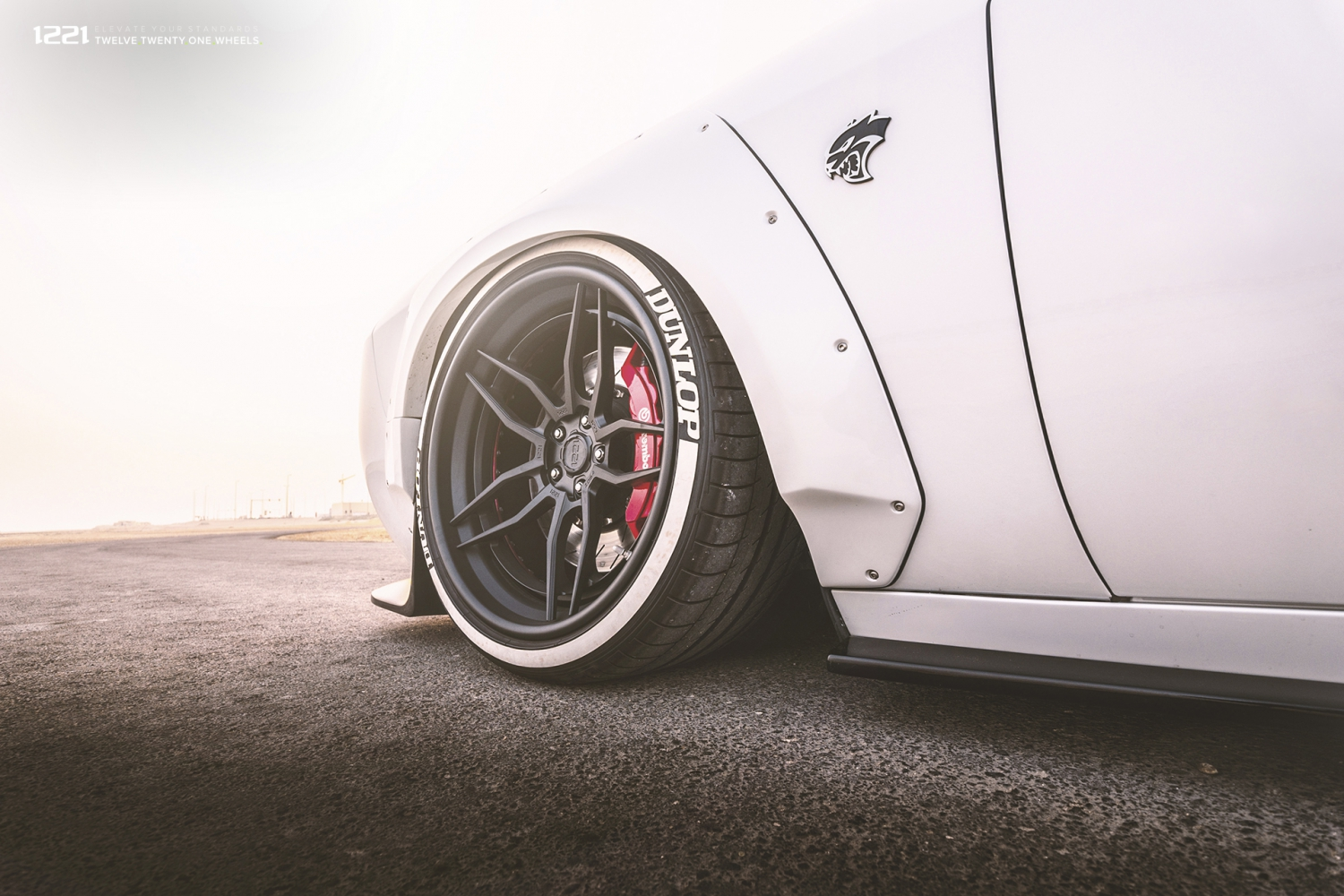 Dodge Challenger Hellcat widebody forged concave wheels