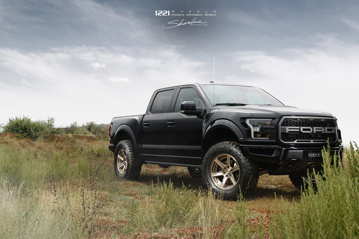 Ford F150 Raptor offroad forged concave wheels