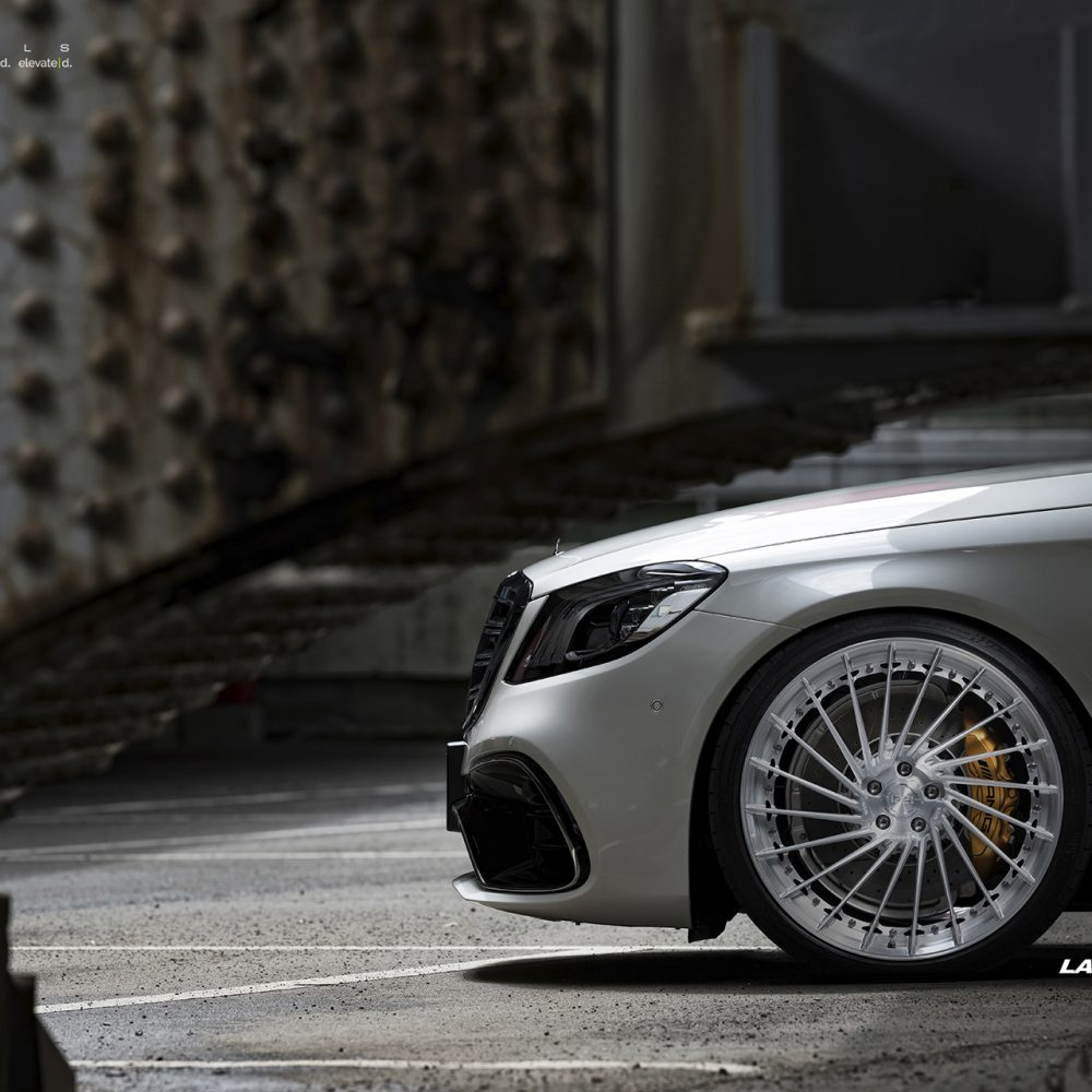 Mercedes Benz S63 S AMG sedan forged concave wheels