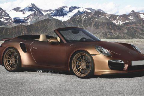 Porsche 911 Carrera Turbo S Cabriolet Custom Wheels