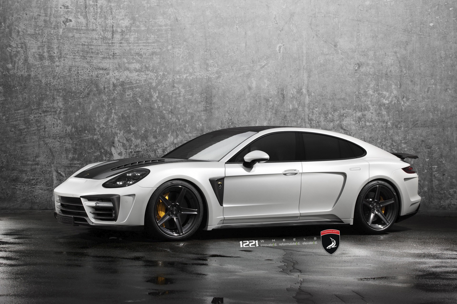 Porsche Panamera Topcar Widebody forged concave wheels