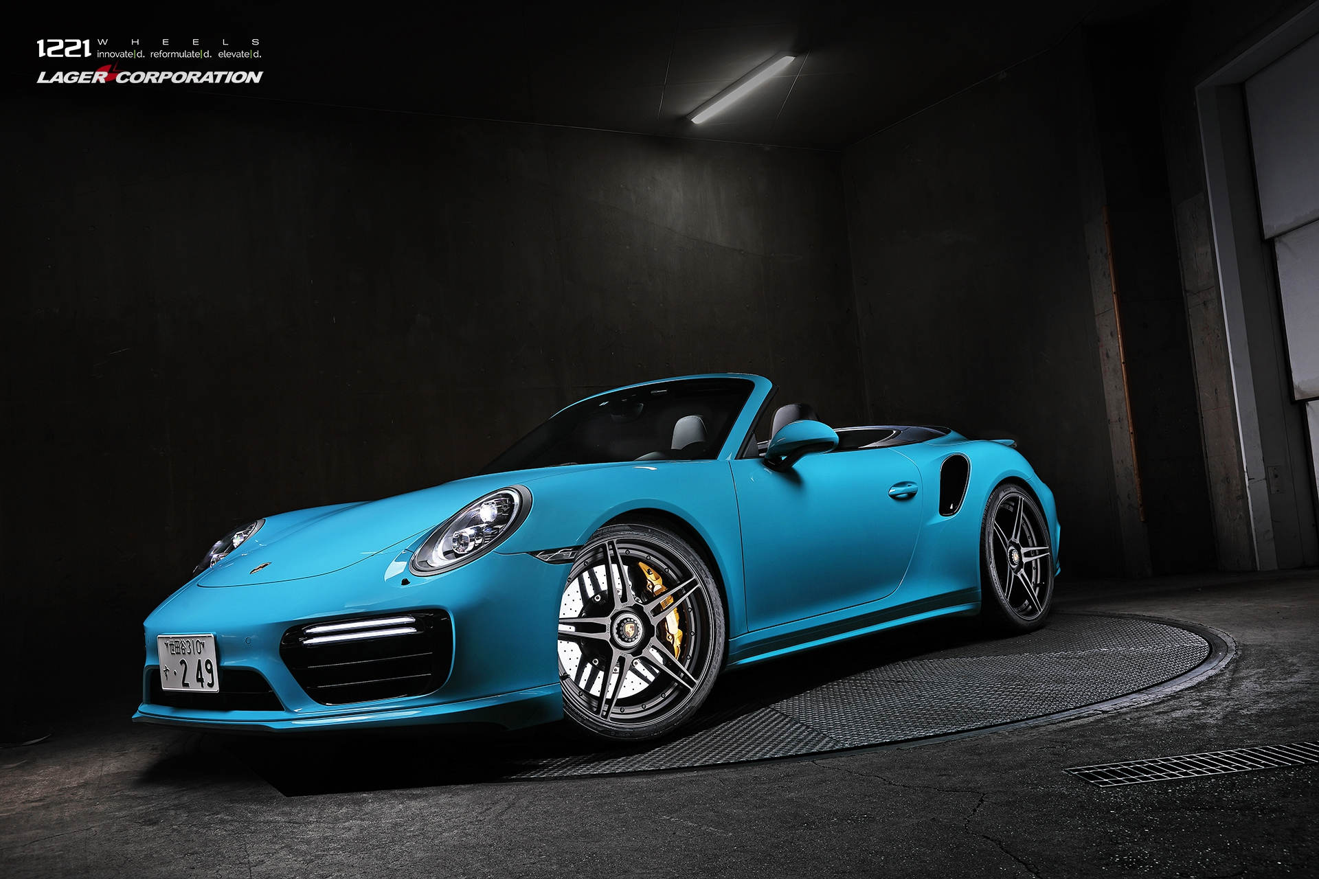 Porsche 911 Turbo S Carrera forged concave wheels